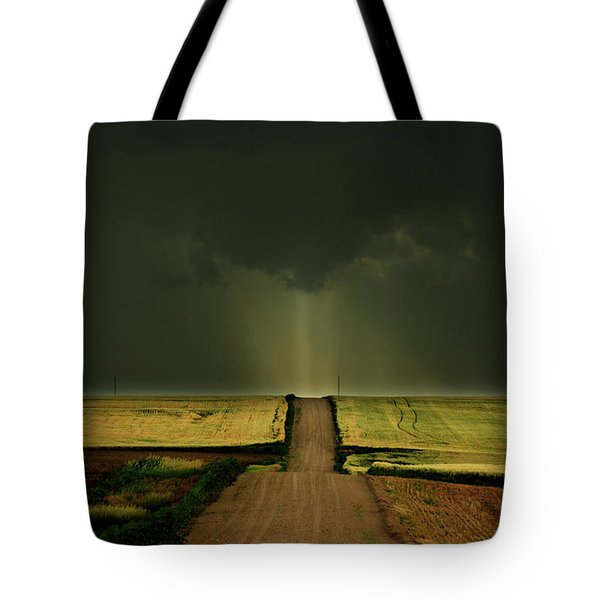 Driving Toward The Daylight Tote Bag