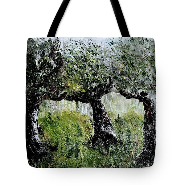 Tote Bag featuring the painting Drizzle by Evelina Popilian