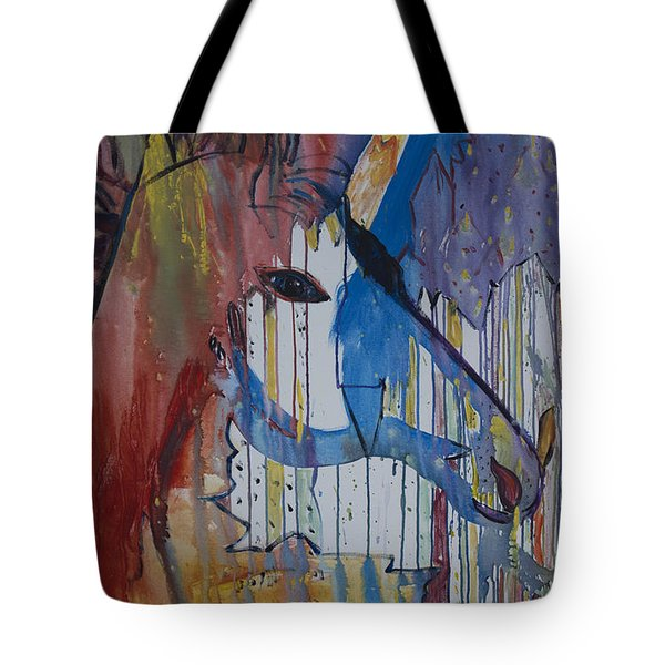 Drizzled Unicorn  Tote Bag by Avonelle Kelsey