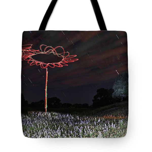 Drone Flowers Tote Bag