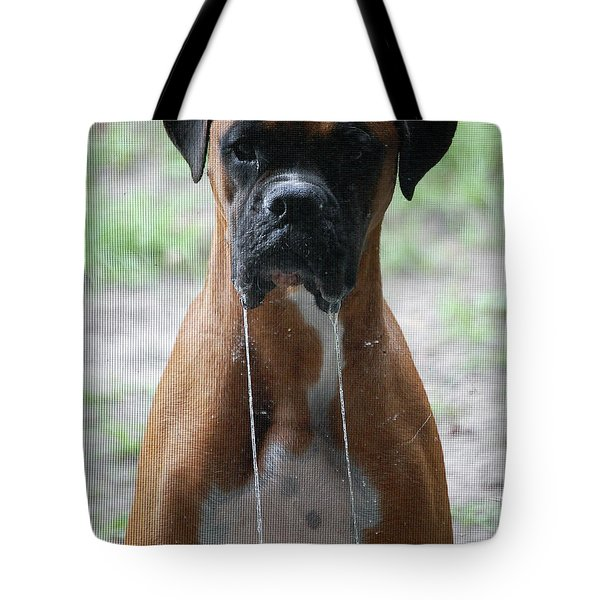 Drool To The Extreme Tote Bag by DigiArt Diaries by Vicky B Fuller