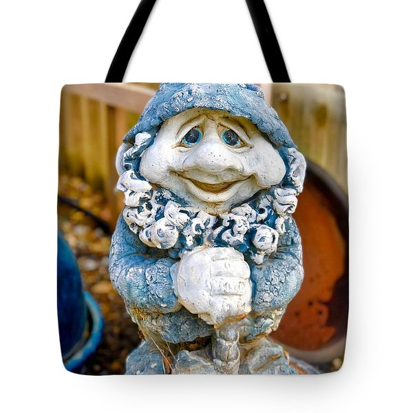 Droopy Eyed Garden Dwarf Tote Bag