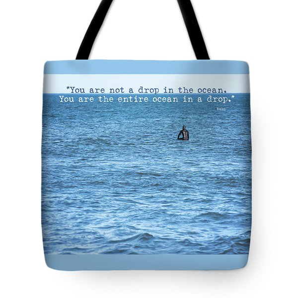 Drop In The Ocean Surfer  Tote Bag by Terry DeLuco