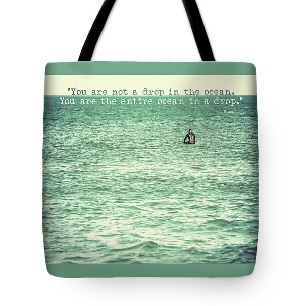 Drop In The Ocean Surfer Vintage Tote Bag by Terry DeLuco