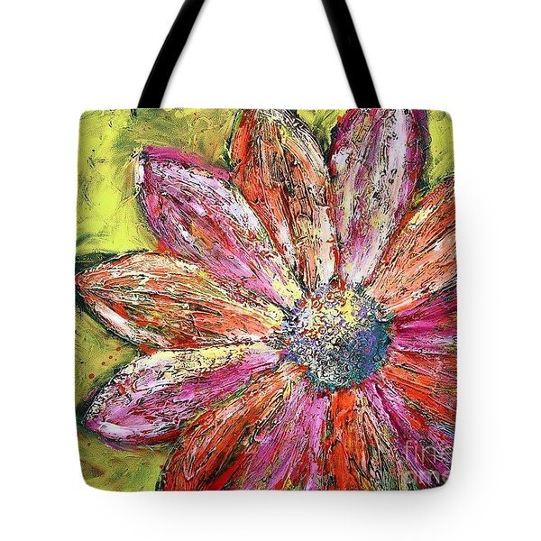 Tote Bag featuring the painting Drop Of A Tear by Annie Young Arts