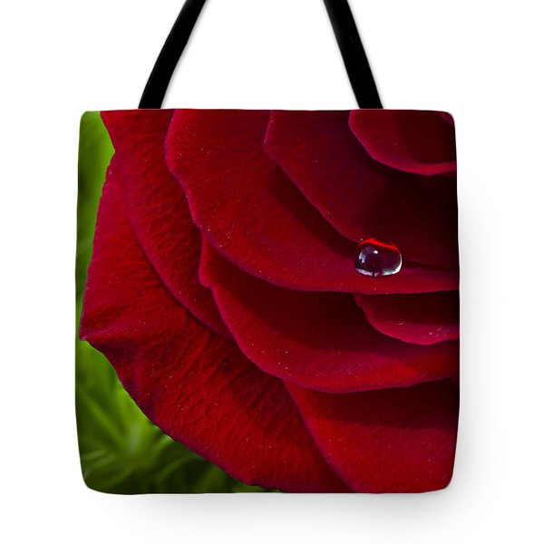 Drop On A Rose Tote Bag