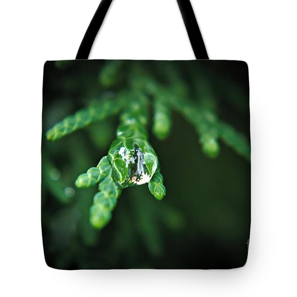 Tote Bag featuring the photograph Droplet by Cendrine Marrouat