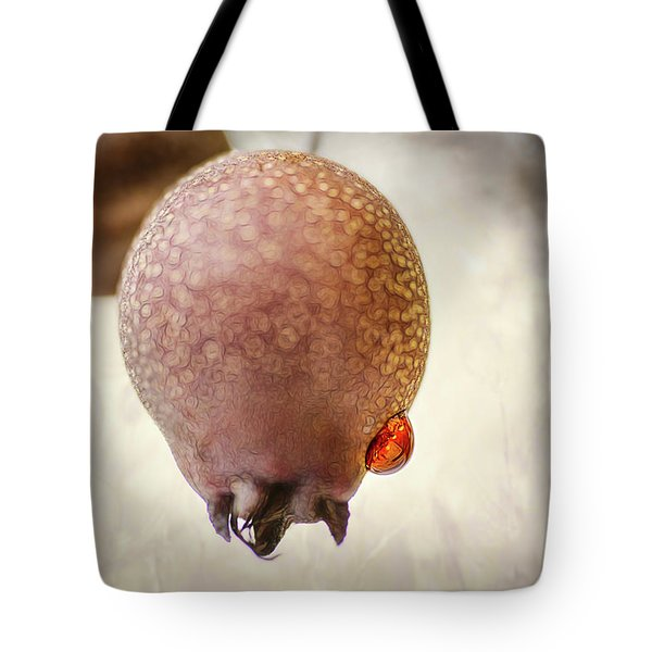 Droplet On A Bud Tote Bag