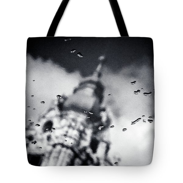 Droplets Tote Bag by Dave Bowman