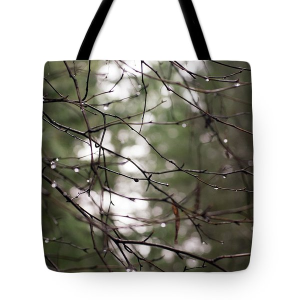 Droplets On Branches Tote Bag
