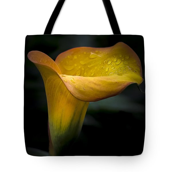 Droplets On Mango Lily Tote Bag
