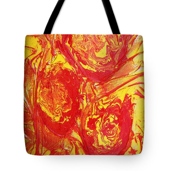 Drops Of Fire Tote Bag