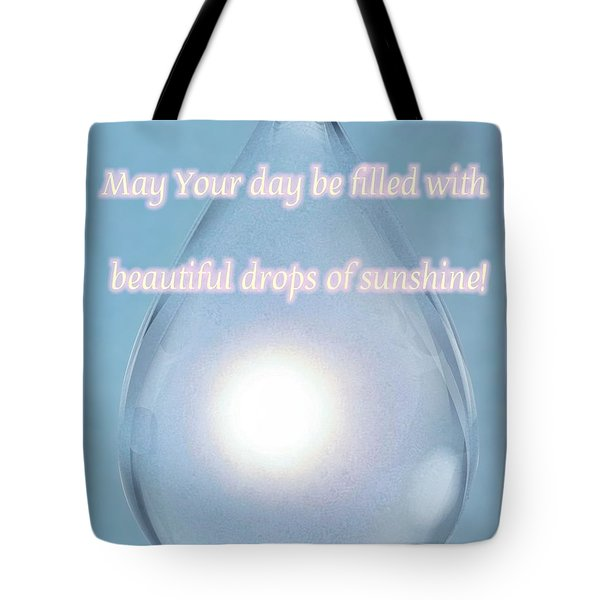 Drops Of Sunshine Tote Bag