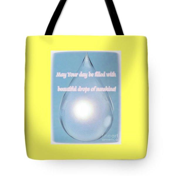Drops Of Sunshine Tote Bag