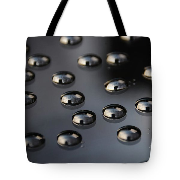 Drops Of Water -macro Tote Bag