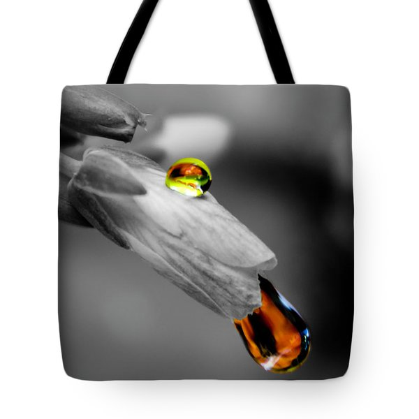 Drops On A Blossom Tote Bag