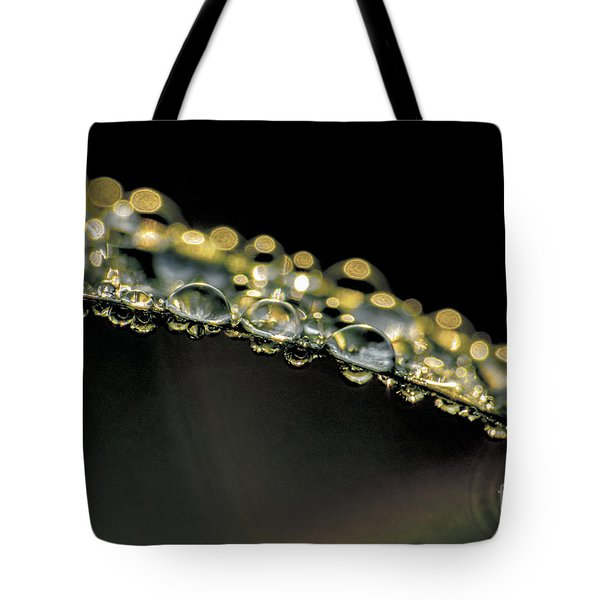 Drops On The Green Grass Tote Bag by Odon Czintos