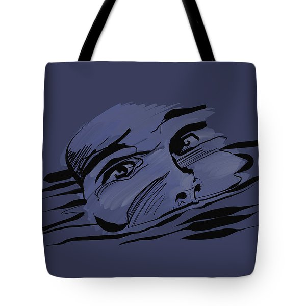 Tote Bag featuring the digital art Drown by Keith A Link