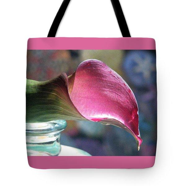 Drowsy Calla Lily Tote Bag by Angela Davies