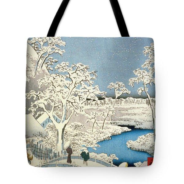 Drum Bridge And Setting Sun Hill At Meguro Tote Bag