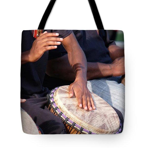 Drum Rhythm Tote Bag
