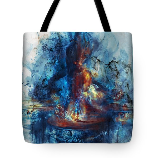 Tote Bag featuring the digital art Drum by Te Hu