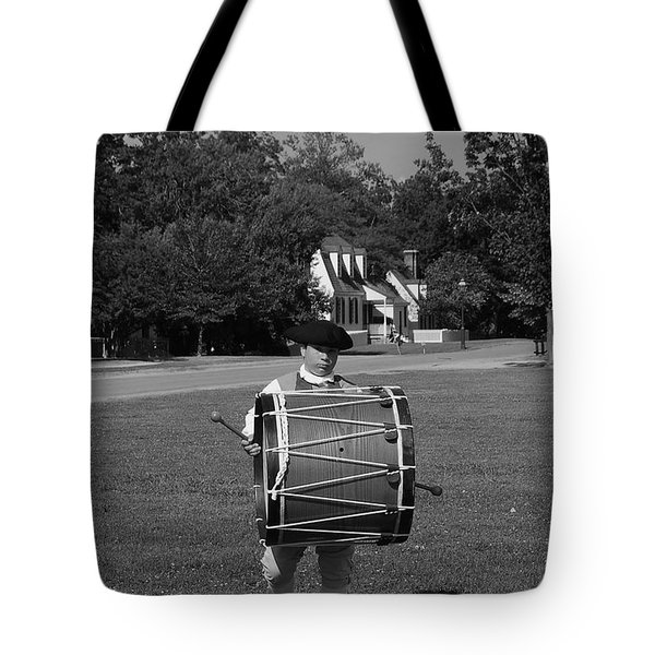 Tote Bag featuring the photograph Drummer Boy by Eric Liller