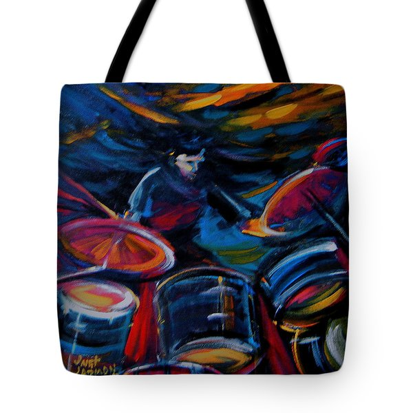 Drummer Craze Tote Bag