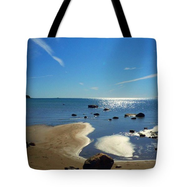 Drummond Shore 1 Tote Bag by Desiree Paquette
