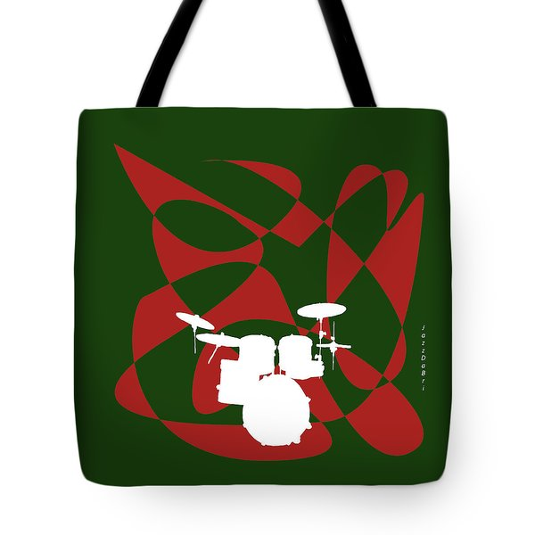 Drums In Green Strife Tote Bag