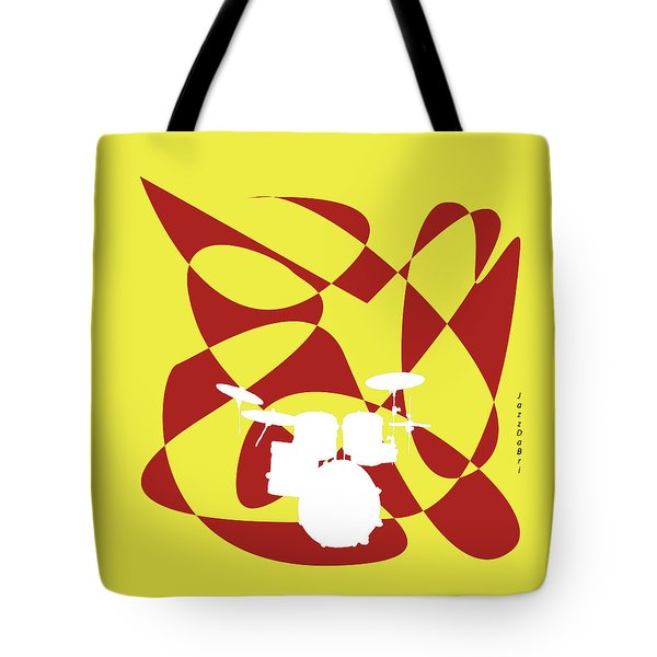 Drums In Yellow Strife Tote Bag