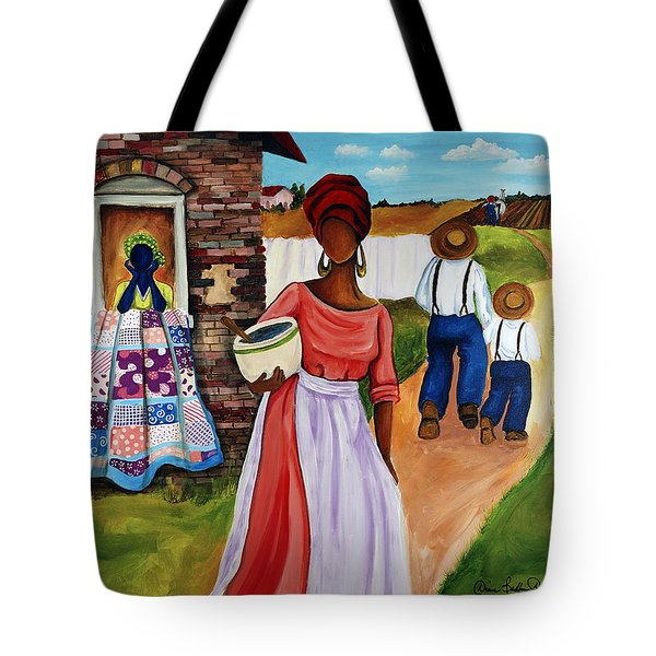 Drunkards Path Tote Bag