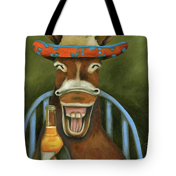 Drunken Dumb Ass Tote Bag by Leah Saulnier The Painting Maniac