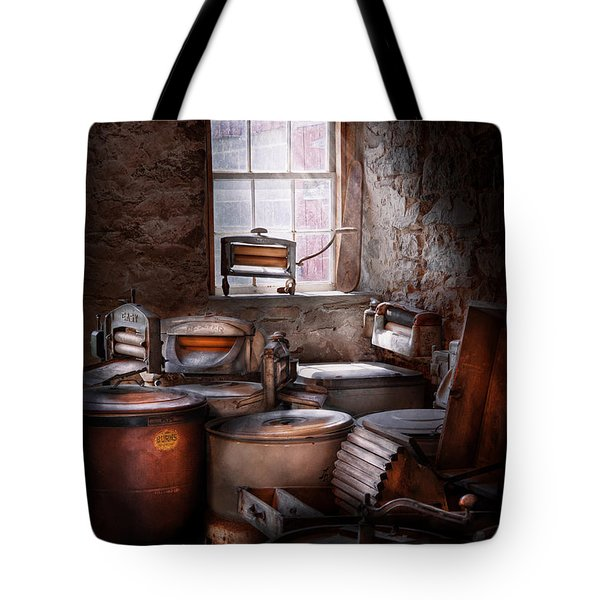 Dry Cleaner - Put You Through The Wringer  Tote Bag by Mike Savad