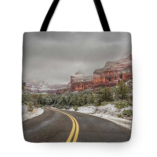 Boynton Canyon Road Tote Bag by Racheal Christian