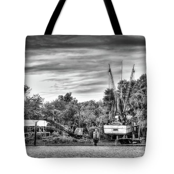 Dry Dock - St. Helena Shrimp Boat Tote Bag