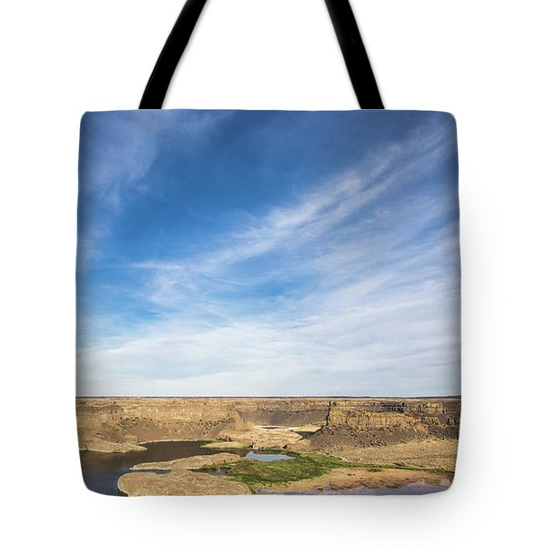 Tote Bag featuring the photograph Dry Fall, Washington by Jingjits Photography