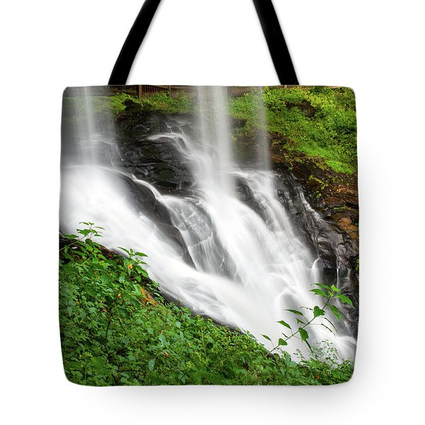 Tote Bag featuring the photograph Dry Falls by Allen Carroll
