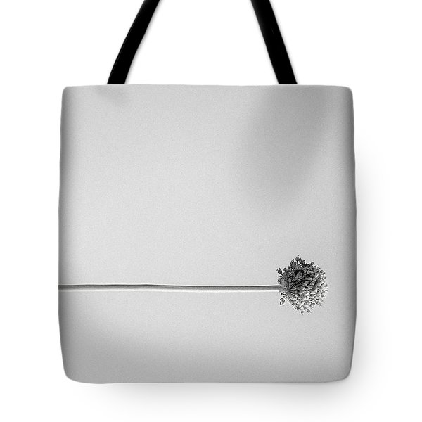 Dry Flower - Black And White Art Photo Tote Bag