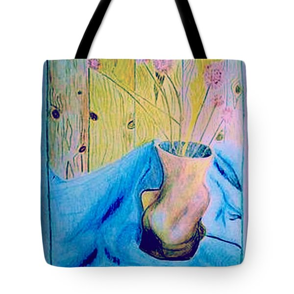 Tote Bag featuring the drawing Dry Flowers by Dr Loifer Vladimir