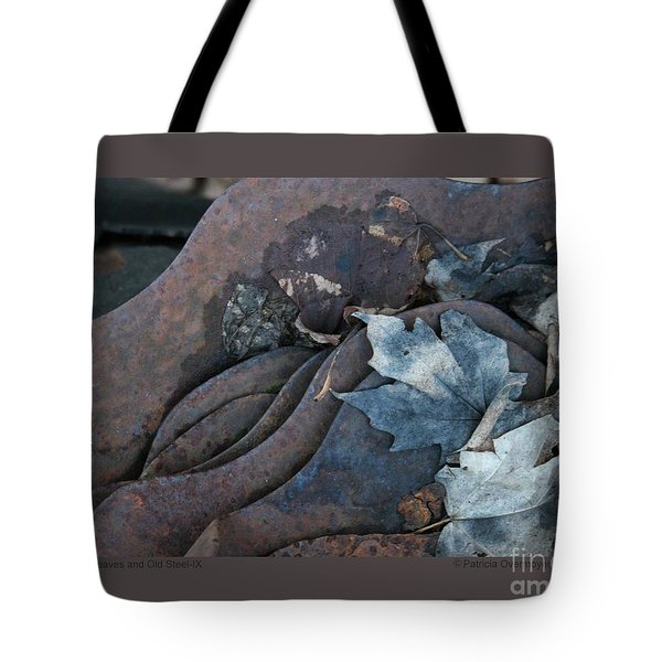Dry Leaves And Old Steel-ix Tote Bag