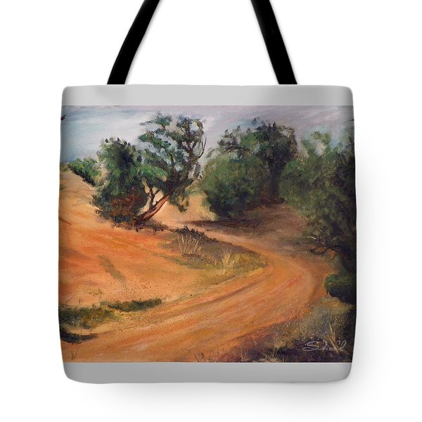 Dry Wash Road Tote Bag by Sherril Porter