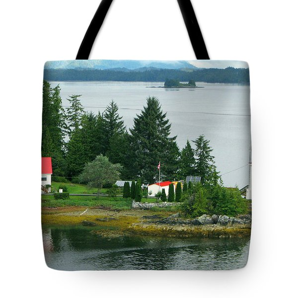 Dryad Point Lighthouse Tote Bag