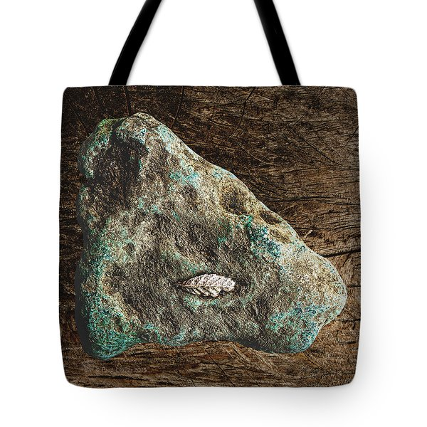 Dryas Leaf And Copper Nugget Tote Bag