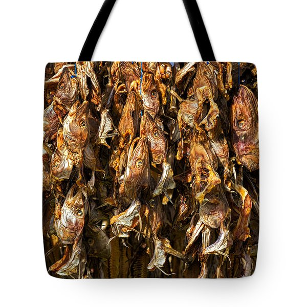 Drying Fish Heads - Iceland Tote Bag