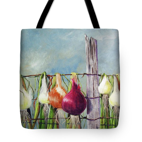Drying Onions Tote Bag