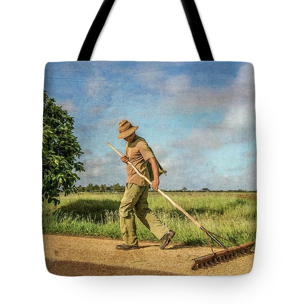 Drying Rice Tote Bag