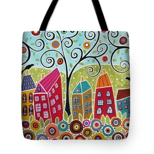 Dsc01598-swirl Tree Village Tote Bag