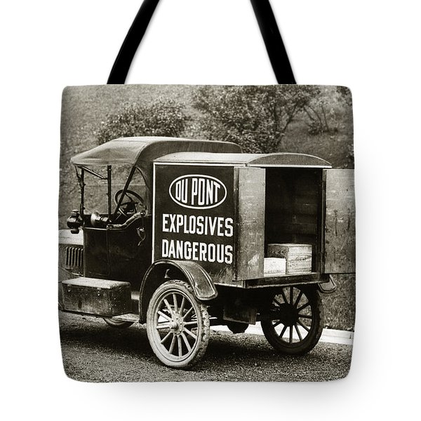 Du Pont Co. Explosives Truck Pennsylvania Coal Fields 1916 Tote Bag