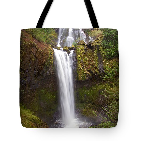 Tote Bag featuring the photograph Dual Cascade by Todd Kreuter